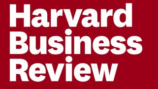 Digital graphic that reads Harvard Business Review in white font on a red background.